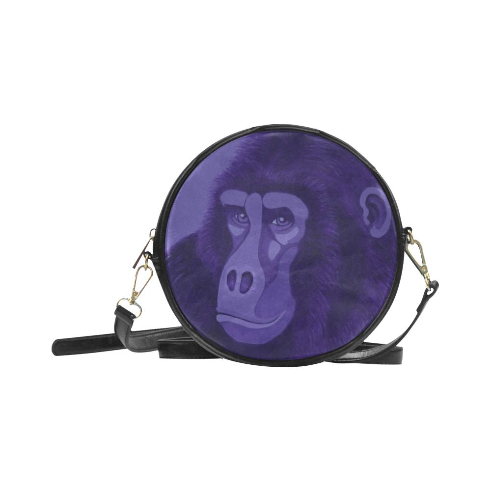 Violet Gorilla Round Sling Bag (Model 1647)