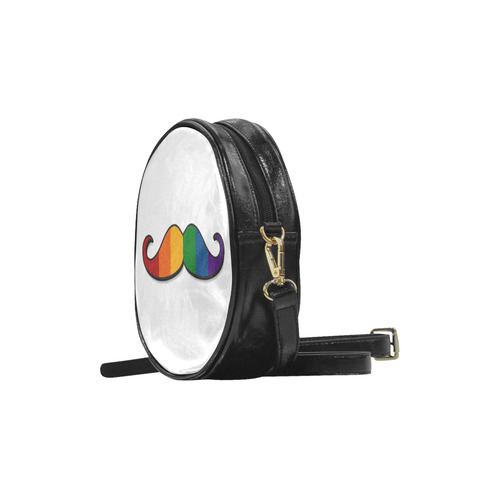 Rainbow Mustache Round Sling Bag (Model 1647)
