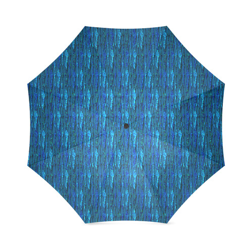 Abstract Scales of Blue Strands Foldable Umbrella (Model U01)