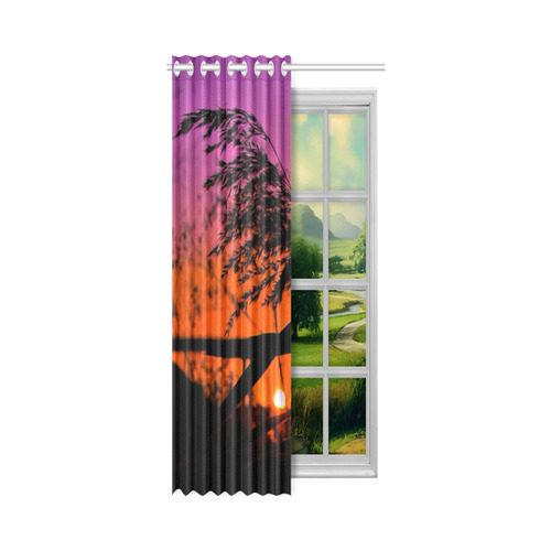 "fantastic sunset New Window Curtain 50"" x 108""(One Piece)"