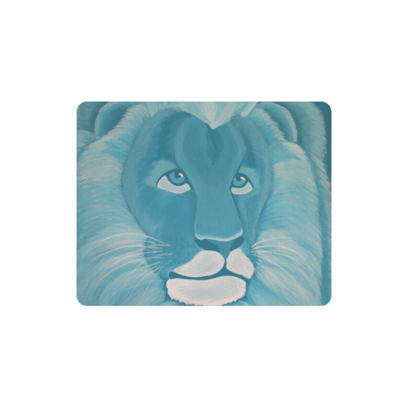 Turquoise Lion Rectangle Mousepad