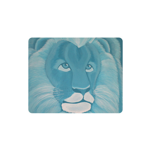 Turquoise Lion Rectangle Mousepad