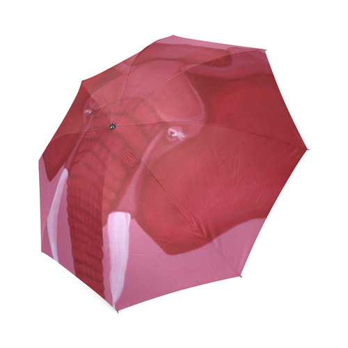 Crimson Elephant Foldable Umbrella