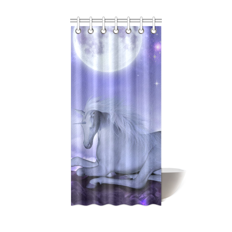 Unicorn Shower Curtain 36x72