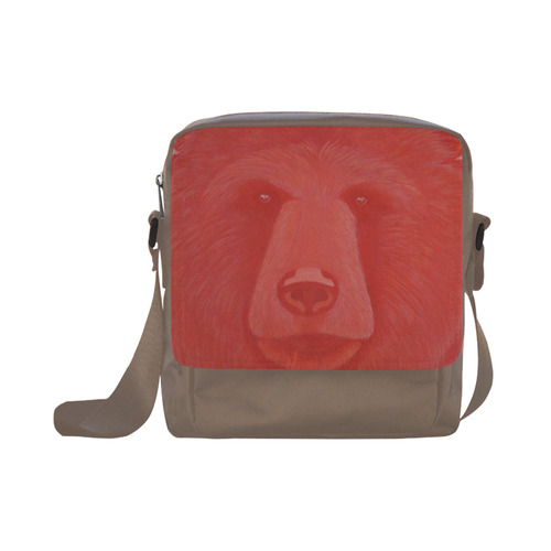 Vermillion Bear Crossbody Nylon Bags (Model 1633)