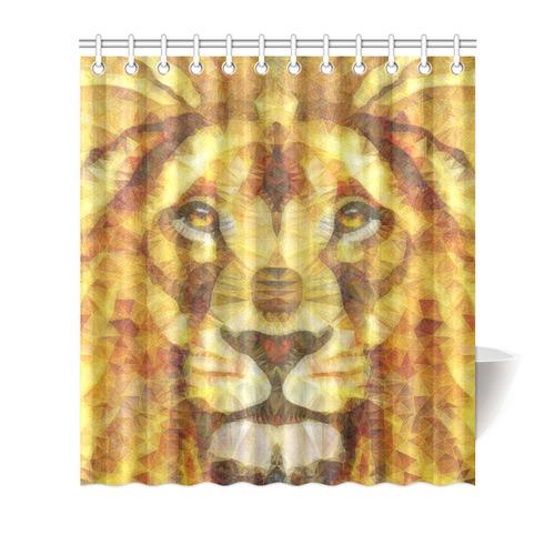 Lion Shower Curtain 66x72