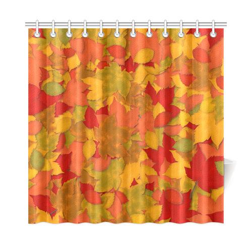 Abstract Autumn Leaf Pattern By ArtformDesigns Shower Curtain 72x72