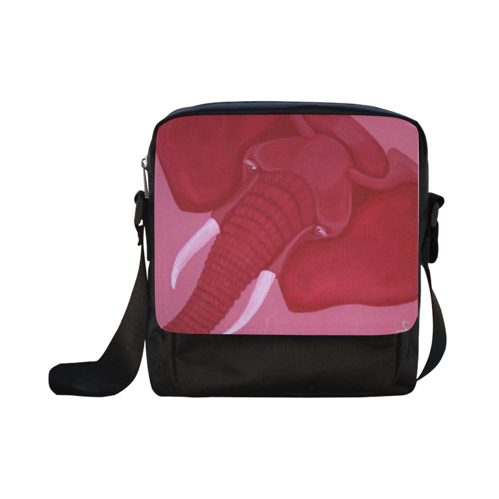 Crimson Elephant Crossbody Nylon Bags (Model 1633)