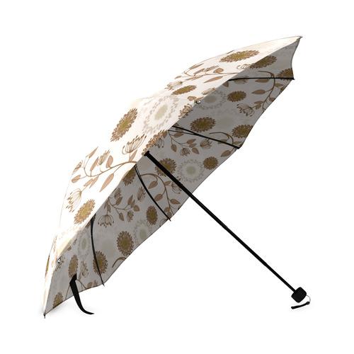 Autumn Chill - Floral - Earth Tones (1) Foldable Umbrella