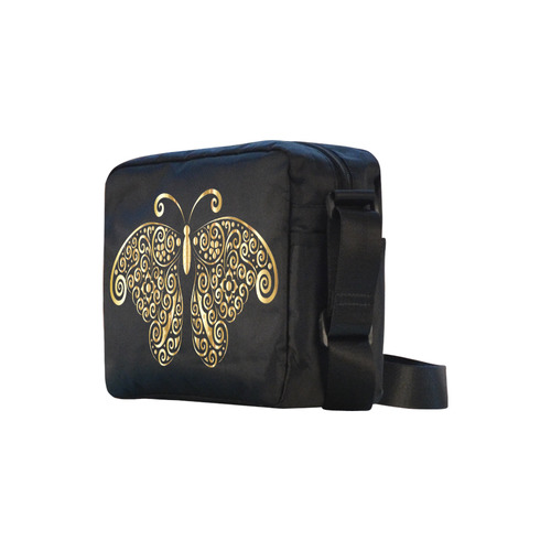 Golden Butterfly Classic Cross-body Nylon Bags (Model 1632)