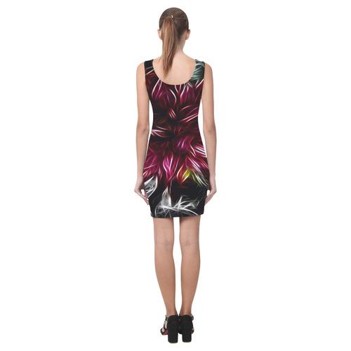Brilliant Fractal Flower Of Light Medea Vest Dress (Model D06)