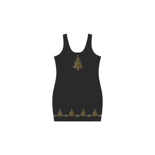 Beautiful Golden Christmas Tree Medea Vest Dress (Model D06)