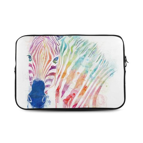 "watercolor rainbow zebra Custom Sleeve for Laptop 17"""