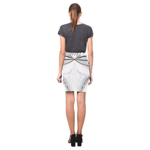 Abstract Fractal Outline Nemesis Skirt (Model D02)