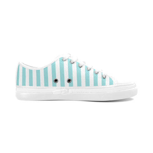Blue Stripes Women's Nonslip Canvas Shoes (Model 001)