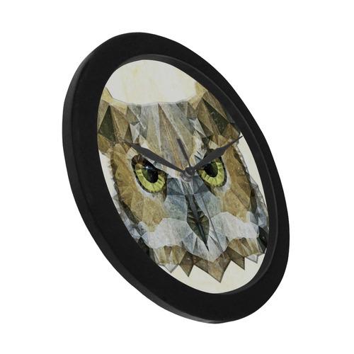 polygon owl Circular Plastic Wall clock