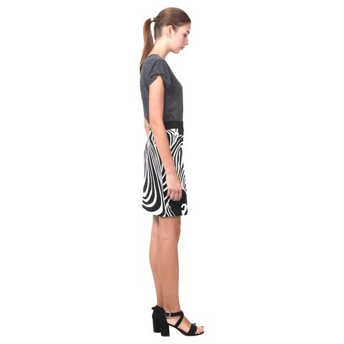 zebra opart, black and white Nemesis Skirt (Model D02)
