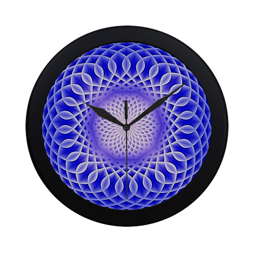Swirling dreams, blue Circular Plastic Wall clock