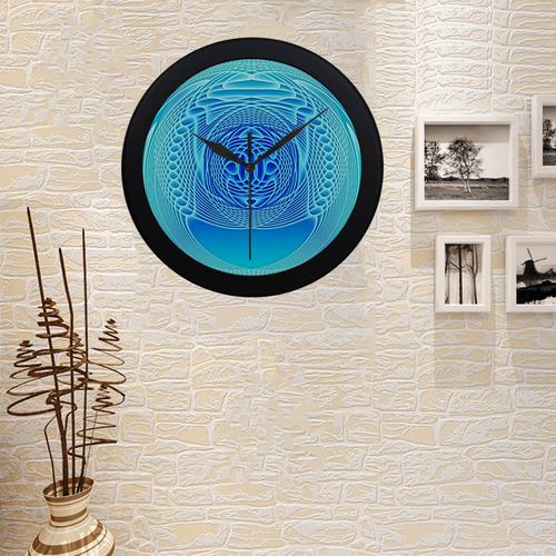 Swirling dreams, aqua Circular Plastic Wall clock