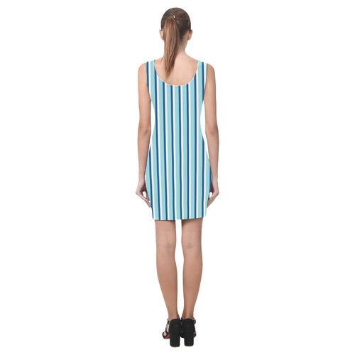 Blue Stripes Medea Vest Dress (Model D06)