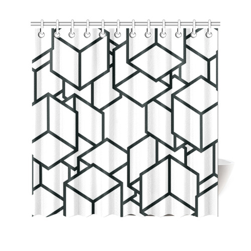 "cubes Shower Curtain 69""x70"""