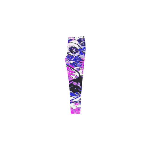 Wacky Retro Floral Cassandra Women's Leggings (Model L01)