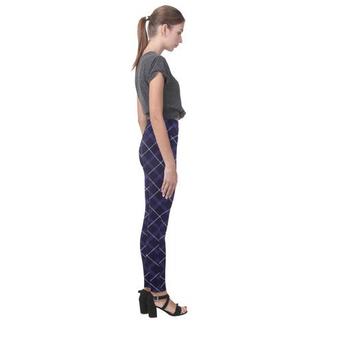 Roayl Blue Plaid/Tartan Cassandra Women's Leggings (Model L01)