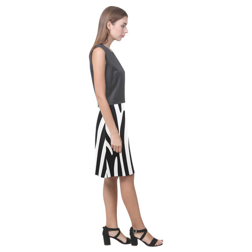 Zebra Eos Women's Sleeveless Dress (Model D01)