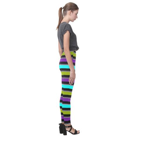 retro stripe 1 Cassandra Women's Leggings (Model L01)