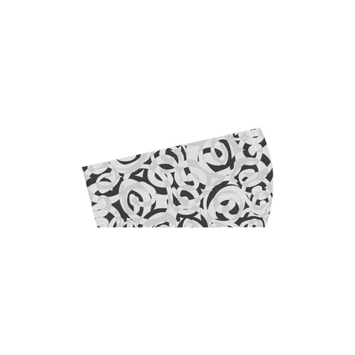 Black White Grey SPIRALS pattern ART Selene Deep Mouth Women Shoes (Model 311)