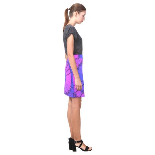 Abstract Mandala Psychedelic Shadow Pink Blue Nemesis Skirt (Model D02)
