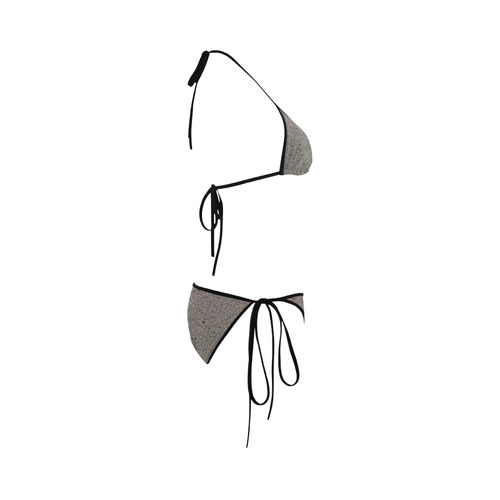 Black Floral Lace Custom Bikini Swimsuit