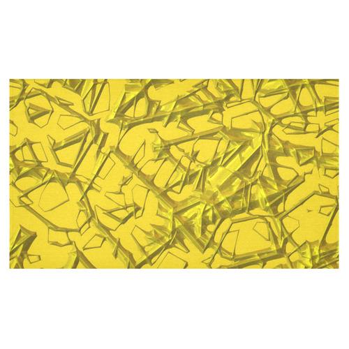 "Thorny abstract,golden Cotton Linen Tablecloth 60""x 104"""