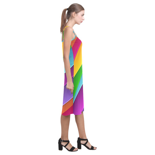 Layered Rainbow Alcestis Slip Dress (Model D05)