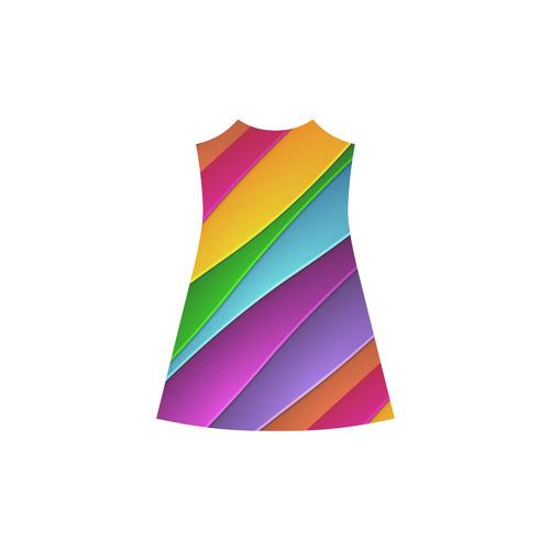 Layered Rainbow Alcestis Slip Dress (Model D05)