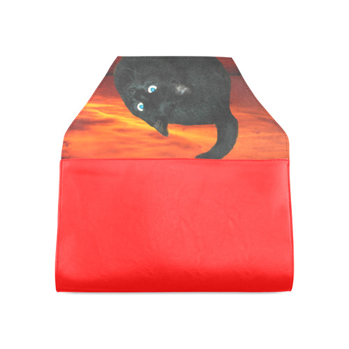 Cat and Red Sky Clutch Bag (Model 1630)