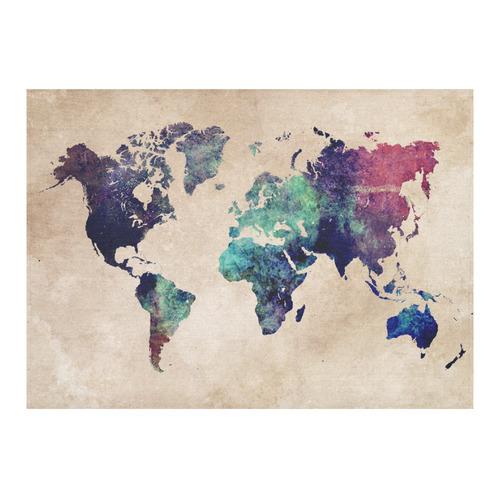 "world map Cotton Linen Tablecloth 60""x 84"""