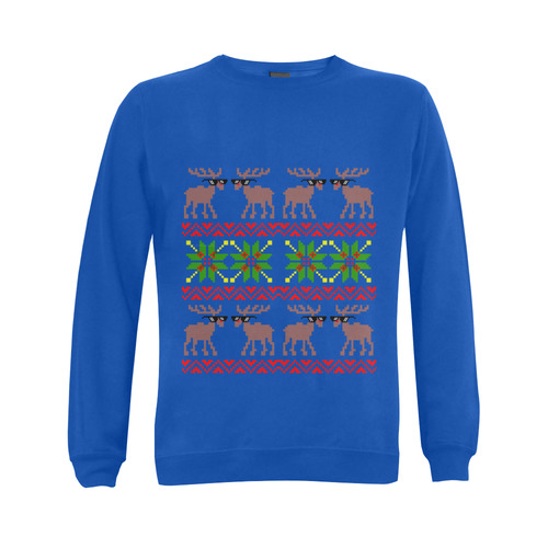 Ugly Sweater  ( Deal With It ) Gildan Crewneck Sweatshirt(NEW) (Model H01)
