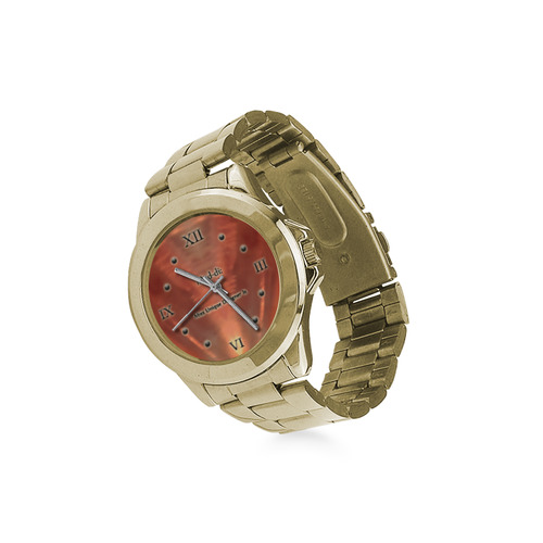 Orange Glassed Diamond Custom Gilt Watch(Model 101)
