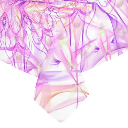 """orchids 10 Cotton Linen Tablecloth 52""""x 70"""""""