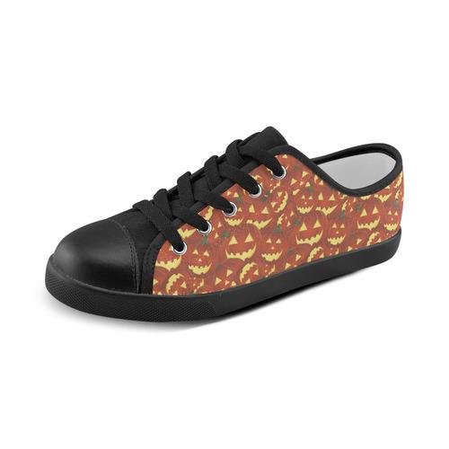 halloween pumpkins Canvas Kid's Shoes (Model 016)