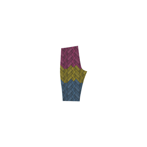 Pansexual Diamond Weave Pattern Hestia Cropped Leggings (Model L03)