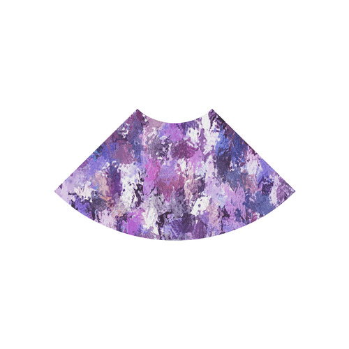 Purple Paint Splatter Atalanta Casual Sundress(Model D04)