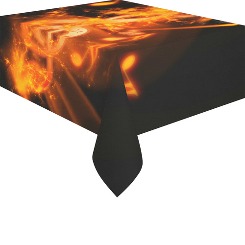"Awesome clef with explosion Cotton Linen Tablecloth 52""x 70"""