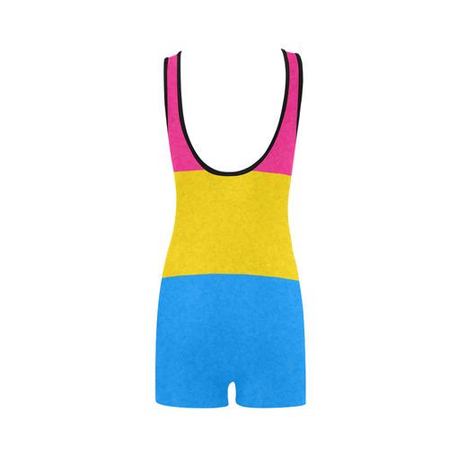 Pansexual Pride Flag Classic One Piece Swimwear (Model S03)