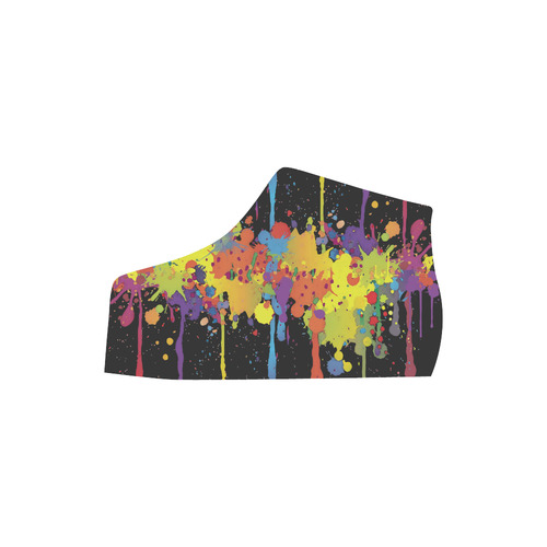 CRAZY multicolored double running SPLASHES Lory High Top Men's Shoes (Model 310)