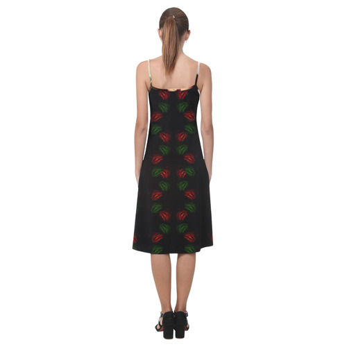 Christmas Mona Lisa with Santa Hat Alcestis Slip Dress (Model D05)