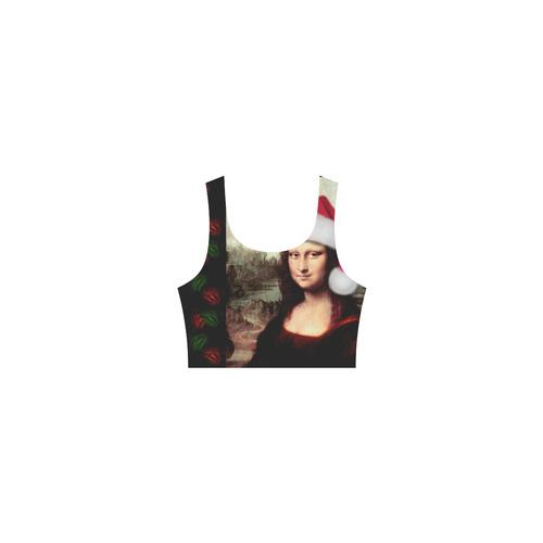 Christmas Mona Lisa with Santa Hat Atalanta Casual Sundress(Model D04)