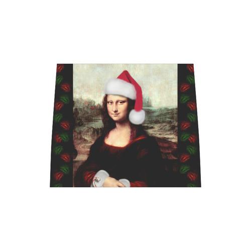 Christmas Mona Lisa with Santa Hat Boston Handbag (Model 1621)