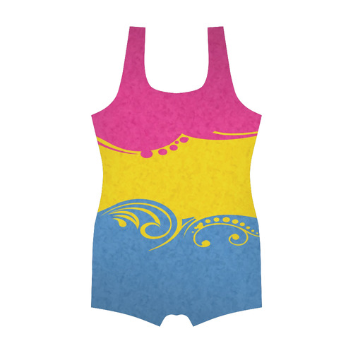 Pansexual Ornamental Flag Classic One Piece Swimwear (Model S03)